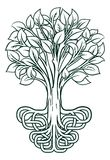 Tree Roots Concept. A conceptual illustration of a tree with stylised roots vector illustration