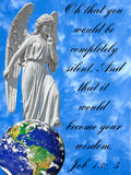 Conceptual Image of Angel With Bible Verse royalty free stock photo