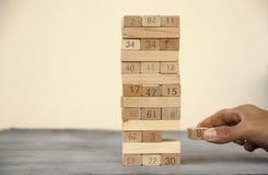 Arrange the wooden block. Conceptual image for arrange the wooden block royalty free stock images