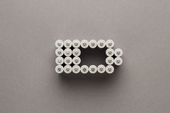 Conceptual image of battery charge level pictogram Royalty Free Stock Photography