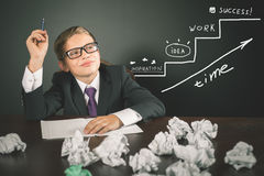 Conceptual image of business plan for start-up business strategy Stock Images