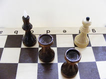 Conceptual image chess game. Succes Royalty Free Stock Photography