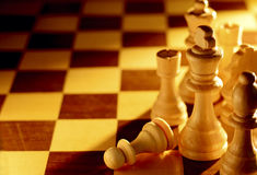 Conceptual image of chess pieces Royalty Free Stock Images