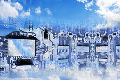 Conceptual Image of Cloud Computing Stock Photography