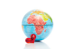 Globe showing Africa with a heart Royalty Free Stock Image