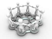 Conceptual image of communications or teamwork. Royalty Free Stock Image