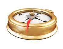 Conceptual image of compass close up. 3d. Stock Photos