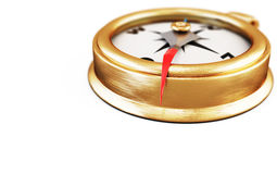 Conceptual image of compass on a white. 3d. Royalty Free Stock Image