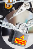 Conceptual image of data security Stock Images
