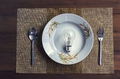The conceptual image depicts the eating of ideas royalty free stock images