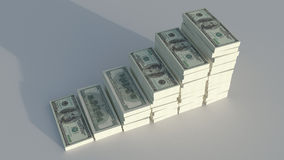 Conceptual image of dollars Royalty Free Stock Photography