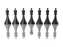 Conceptual image of false leadership. Chess. Stock Image
