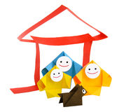 Conceptual image of family and home Stock Images