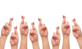Conceptual image, finger crossed hand sign Royalty Free Stock Photos