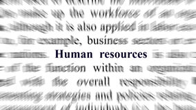 Conceptual image with focus on the human resources Royalty Free Stock Photo