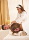 Conceptual image of getting massage Stock Photo