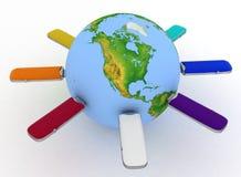 Conceptual image - global communication Stock Photos
