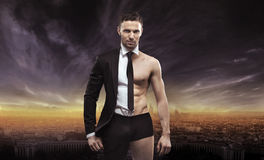 Conceptual image of a handsome businessman Stock Image