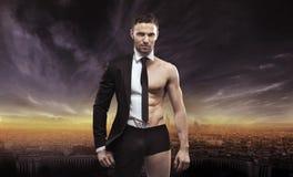 Conceptual image of a handsome businessman. Conceptual picture of a handsome businessman stock image