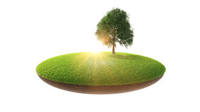 Conceptual image island in the air Royalty Free Stock Image