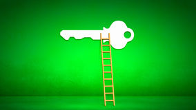 Conceptual image with ladder Stock Images