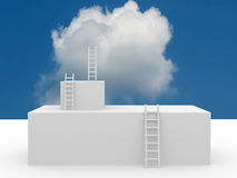 Conceptual image - ladder in the sky Royalty Free Stock Photography