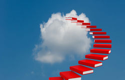 Conceptual image - ladder in the sky Stock Images