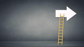 Conceptual image with ladder Royalty Free Stock Images