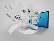 A lot of e-mail Royalty Free Stock Images