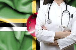 Conceptual image of national healthcare system in Dominica stock images