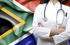 Conceptual image of national healthcare system in South Africa royalty free stock photo
