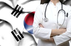 Conceptual image of national healthcare system in South Korea royalty free stock photos