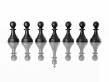Conceptual Image Of Magalomania Or Uniqe. Chess Royalty Free Stock Images