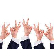Conceptual image, Okay hand sign Stock Photography