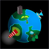 Conceptual image of the planet earth Royalty Free Stock Photo