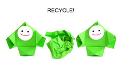 Conceptual image of recycling and ecology Stock Photo