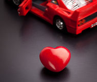A conceptual image relating to the phrase, I love my car. Image relating to the phrase, I love my car Stock Images