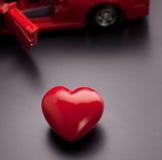 A conceptual image relating to the phrase, I love my car. Image relating to the phrase, I love my car Stock Photos