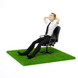 A conceptual image of a relaxing businessman Stock Photo