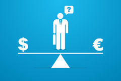 Financial balance. Conceptual image representing economic situation of  financial balance Stock Photography