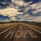 Conceptual Image of Road With the Word Hope Royalty Free Stock Photography