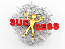 Conceptual image of success Stock Images