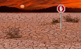 Conceptual image symbolizing a drastic climate changes of our planet royalty free stock image