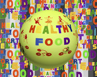 Conceptual image of tag cloud containing words related to food, Stock Photography