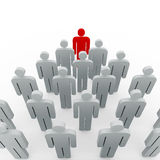 Conceptual image of teamwork Stock Image