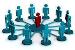 Conceptual image of teamwork. Stock Photos