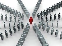 Conceptual image of teamwork. royalty free illustration