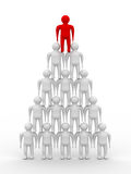 Conceptual image of teamwork. Royalty Free Stock Images