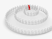 Conceptual image of teamwork. Stock Image