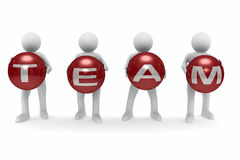 Conceptual image of teamwork Stock Images